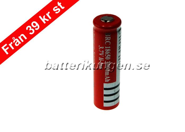 Kända Laddningsbara batterier: 18650 laddningsbart Lithiumbatteri RT-88